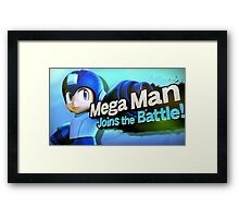 Megaman Joins the Battle! Framed Print