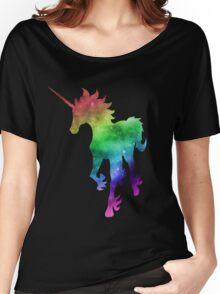 Rainbow Galaxy Unicorn Women's Relaxed Fit T-Shirt