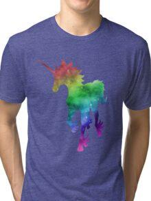 Rainbow Galaxy Unicorn Tri-blend T-Shirt