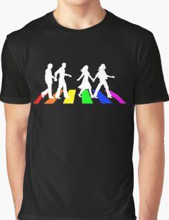Abbey Pride white Graphic T-Shirt