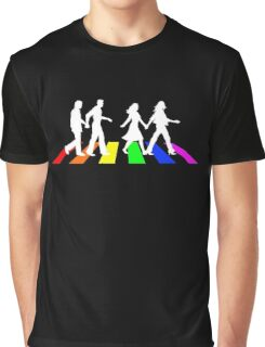 Abbey Pride white Graphic T-Shirt