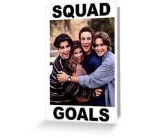 Boy Meets World Squad Goals Greeting Card