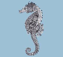 Seahorse Doodle One Piece - Short Sleeve