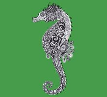 Seahorse Doodle One Piece - Short Sleeve