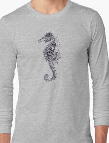Seahorse Doodle Long Sleeve T-Shirt