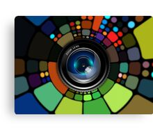 Colorful Camera Lens Canvas Print