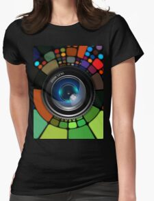 Colorful Camera Lens Womens Fitted T-Shirt