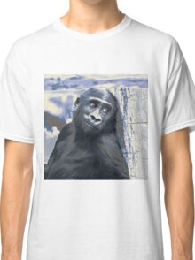 Smiling Gorilla Baby,blue Classic T-Shirt