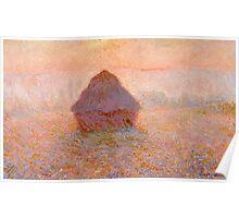 1891-Claude Monet-Grainstack, Sun in the Mist-99x32 Poster