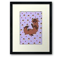 Ferret - Blue Framed Print