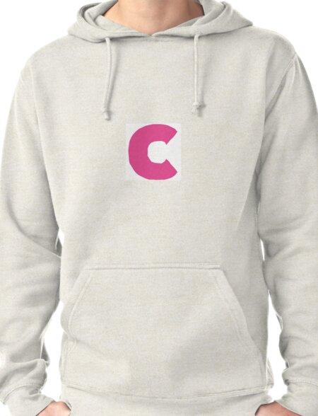 C pink Pullover Hoodie