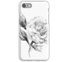 Flower rose sketch  hand drawing iPhone Case/Skin