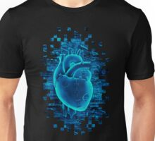 Gamer Heart BLUE TECH Unisex T-Shirt