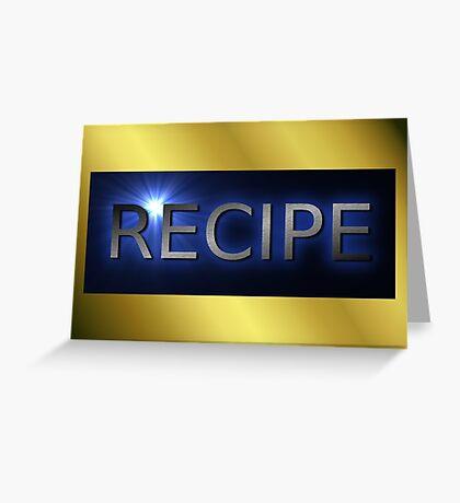 recipe background Greeting Card