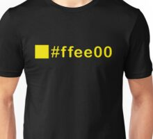 Colour Yellow #ffee00 Unisex T-Shirt