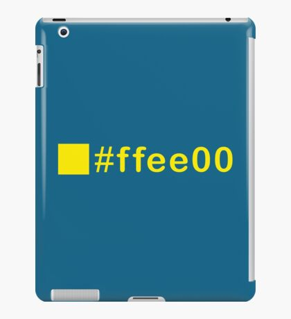 Colour Yellow #ffee00 iPad Case/Skin
