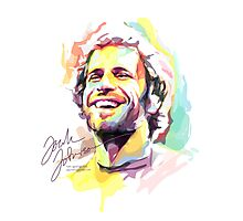 Jack Johnson in Watercolor Photographic Print