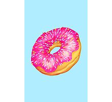 pink donut with sprinkles Photographic Print