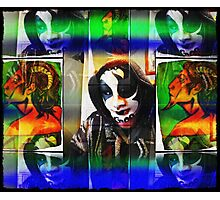 pan behind the masque in search of echo Photographic Print