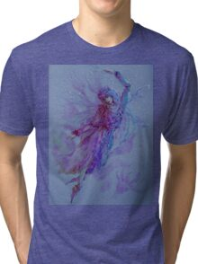 Beautiful flying fairy  Tri-blend T-Shirt