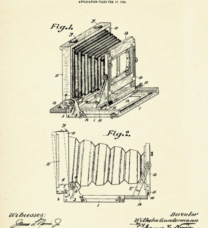 Folding Photographic Camera-1904 Sticker