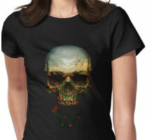 Field of Skull Womens Fitted T-Shirt