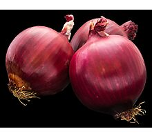 Red onion Photographic Print