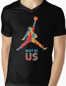 Bernie Sanders Jumpman - Not me us Mens V-Neck T-Shirt