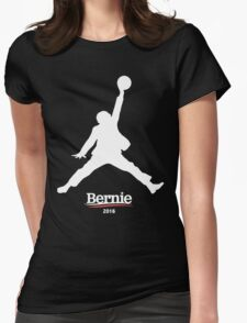 Bernie Sanders Jumpman - Slam Dunk Womens Fitted T-Shirt