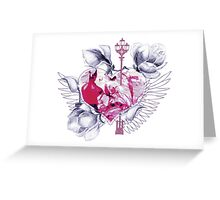 Abstract mix with heart with wings Greeting Card