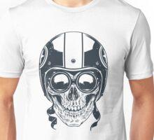 Skull in Racer Helmet Unisex T-Shirt