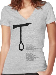 the hanging tree Women's Fitted V-Neck T-Shirt