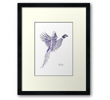 Colchicus: The Ringed Pheasant Framed Print