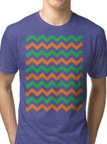 Irish Chevron Pattern Tri-blend T-Shirt