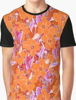 Orange flowers bouquet pattern Graphic T-Shirt