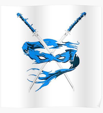 TMNT Leonardo Inspired Artwork Teenage Mutant Ninja Turtles Poster