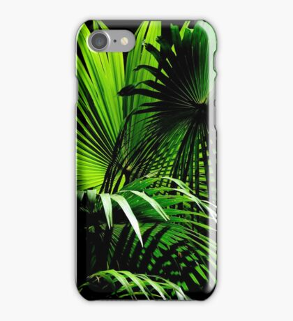 Cabbage Palm Leaves iPhone Case/Skin