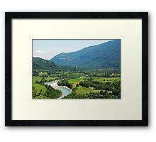 Soca Valley Near Kobarid Framed Print