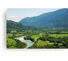 Soca Valley Near Kobarid Canvas Print