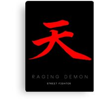 Raging Demon Minima Canvas Print