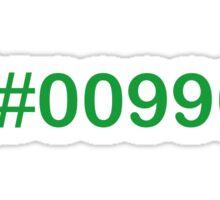 Colour Green #009900 Sticker
