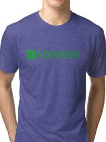 Colour Green #009900 Tri-blend T-Shirt