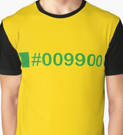 Colour Green #009900 Graphic T-Shirt