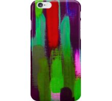 Red Green Abstract Brush Strokes Vertical Lines iPhone Case/Skin