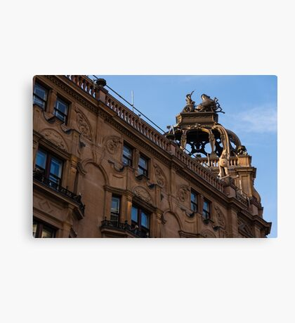 Rooftop Chariots and Horses - The Hippodrome Casino Leicester Square, London, UK Canvas Print