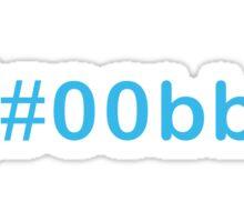 Colour Blue #00bbff Sticker