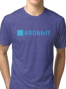 Colour Blue #00bbff Tri-blend T-Shirt