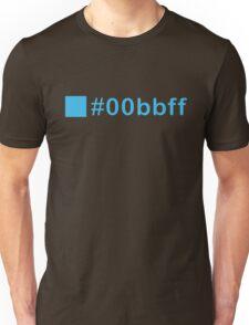 Colour Blue #00bbff Unisex T-Shirt