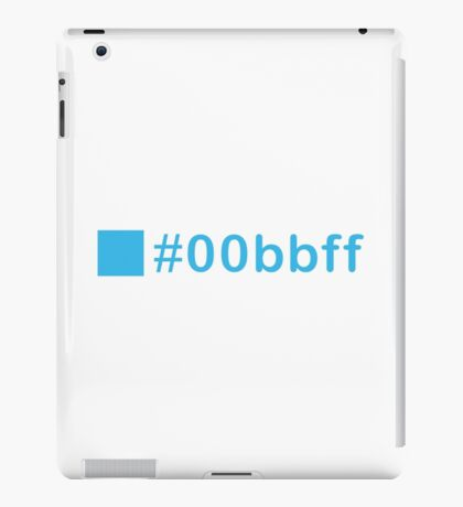 Colour Blue #00bbff iPad Case/Skin