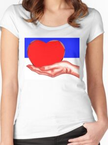HEART IN HAND Women's Fitted Scoop T-Shirt